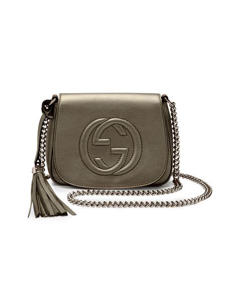 Soho Leather Chain Crossbody Bag, Sasso