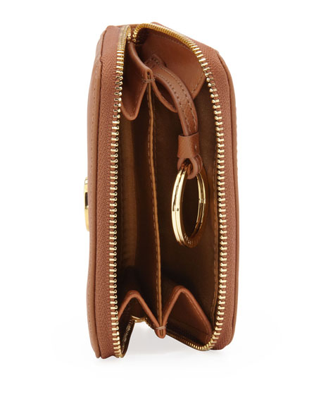 Robinson Zip Coin Case, Brown