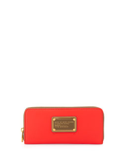 MARC by Marc Jacobs Too Hot to Handle Slim Zip Wallet, Diva Pink