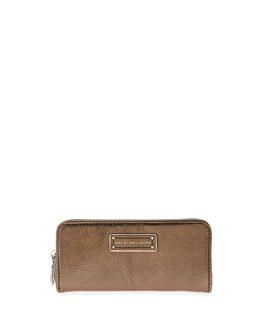 MARC by Marc Jacobs Too Hot to Handle Slim Zip Wallet, Gunmetal