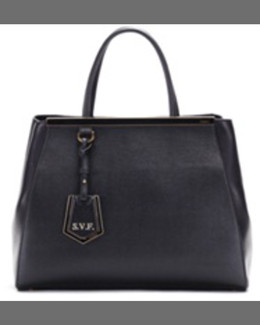 Fendi 2Jours Saffiano Tote Bag, Blue