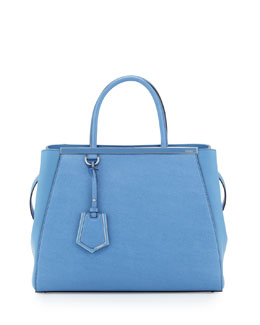 Fendi 2Jours Saffiano Medium Tote Bag, Periwinkle