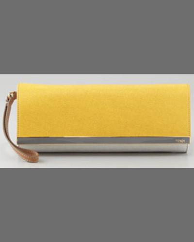 Fendi Rush Colorblock Wristlet Clutch Bag, Medium Purple