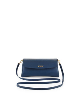 Fendi Vitello Elite Mini Flap Crossbody Bag, Cobalt