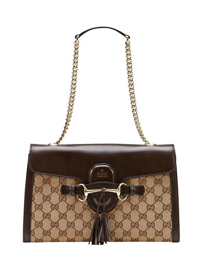 Gucci Emily Small GG Canvas Shoulder Bag