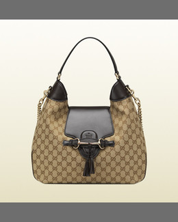 Gucci Emily Original GG Canvas Hobo Bag