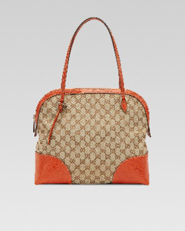 Gucci Medium GG Zip Dome Tote Bag, Mystic White