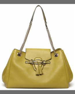 Gucci Emily Leather Shoulder Bag, Mystic White