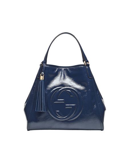 Gucci Soho Leather Shoulder Bag, Uniform Blue Navy