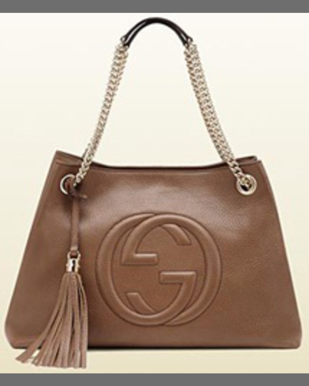 80f101836 Gucci Soho Leather Chain Shoulder Bag, Mystic White   Neiman Marcus
