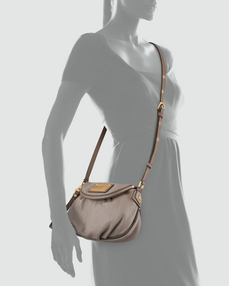 Natasha Mini Tonal Crossbody Bag, Warm Zinc