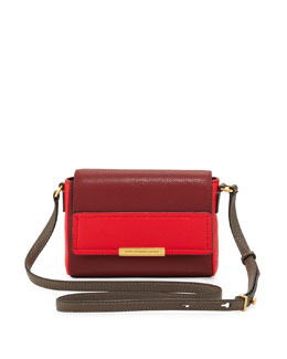 MARC by Marc Jacobs Katie Colorblock Flap Crossbody Bag, Cabernet/Red