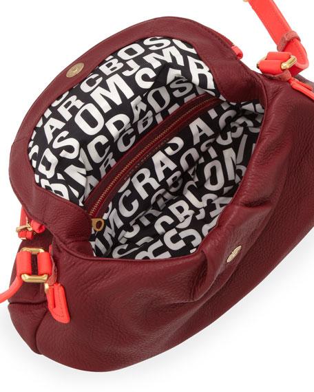 Natasha Two-Tone Crossbody Bag, Red