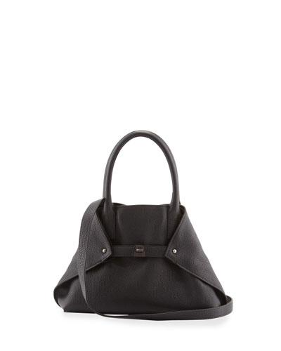Akris Ai Extra-Small Messenger Bag, Black