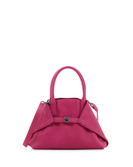 Akris Ai Cervo Extra-Small Messenger Bag, Bougainvillea