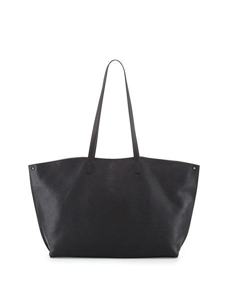Ai Leather Tote Bag, Black