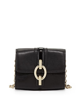 Diane von Furstenberg Sutra Micro Mini Crossbody Bag, Black