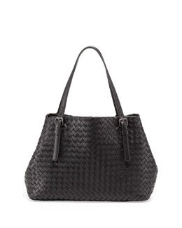 Bottega Veneta A-Shaped Medium Tote Bag, Black