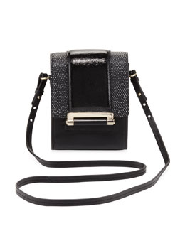 Diane von Furstenberg Parker Mini Leather Crossbody Bag, Black