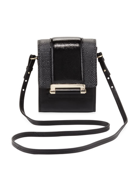 Parker Mini Leather Crossbody Bag, Black