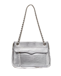 Rebecca Minkoff Swing Metallic Shoulder Bag, Silver