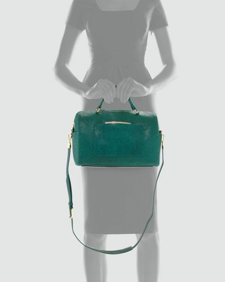 Julian Serpent-Print Duffel Bag, Emerald