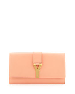 Saint Laurent Y Ligne Clutch Bag, Blush