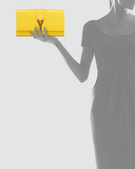 Y Ligne Clutch Bag, Yellow