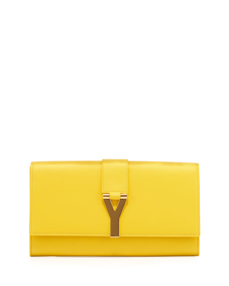 Y Ligne Clutch Bag, Yellow