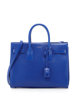 Saint Laurent Sac de Jour Small Carryall Bag, Bleu Major