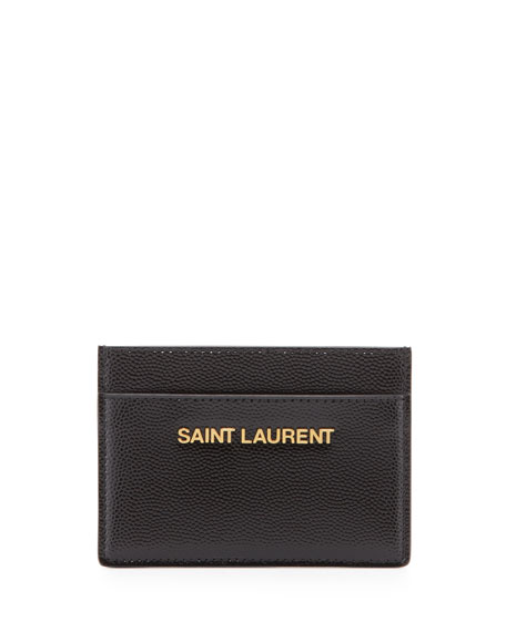 Letters Credit Card Case, Black