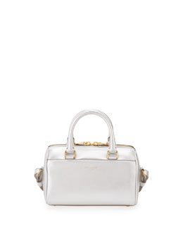 Saint Laurent Metallic Duffel Toy Saint Laurent Bag, Argento