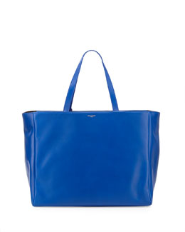 Saint Laurent Reversible East-West Shopper Tote Bag, Bleu Major
