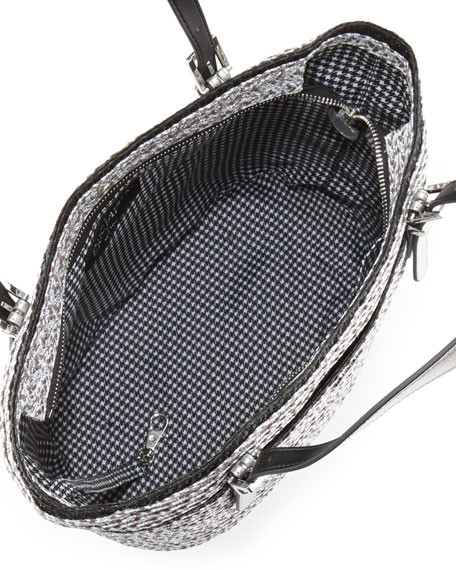 Jav Squishee Tote Bag, Silver/Black
