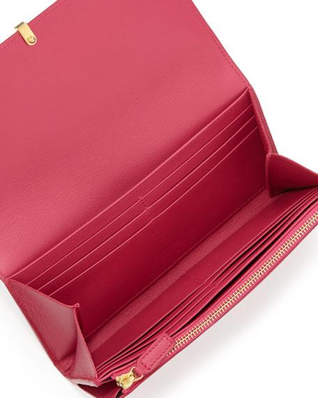 Classic Y-Ligne Large Flap Wallet, Pink