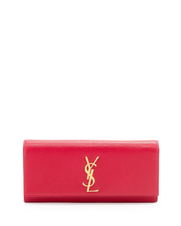 Saint Laurent Cassandre Logo Clutch Bag, Pink