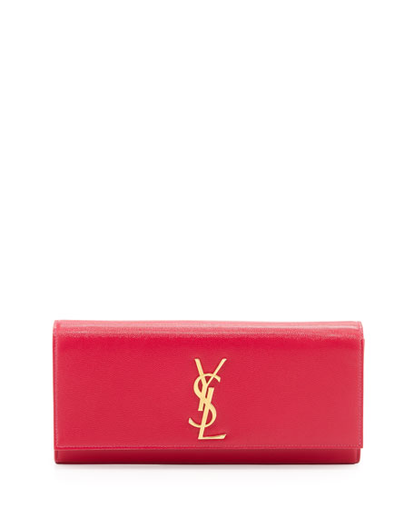 Cassandre Logo Clutch Bag, Pink