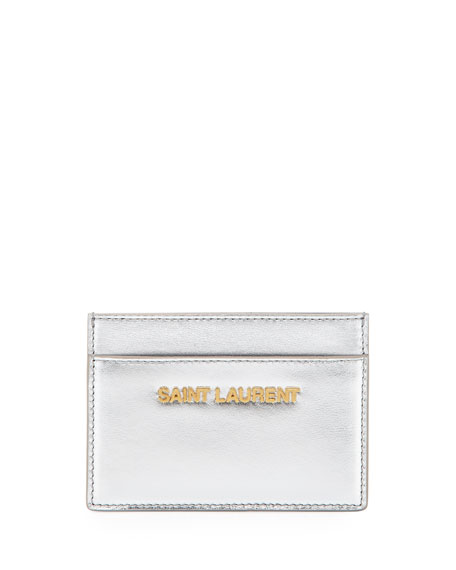 Letters Credit Card Case, Platine