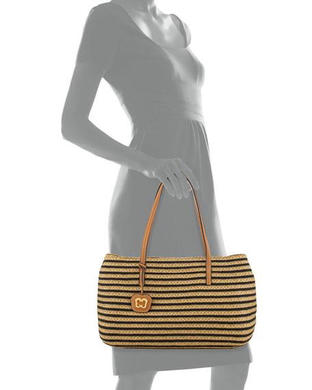 Dame Brooke Squishee Tote Bag, Black/Natural