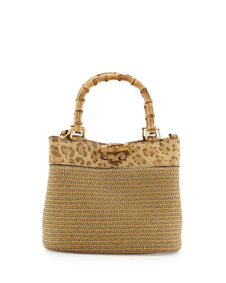 Lil Lu Squishee Mini Tote Bag, Leopard-Print