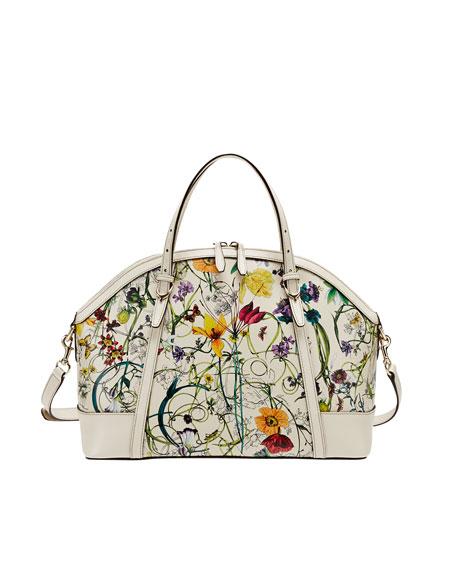Gucci Nice Flora Medium Top Handle Bag