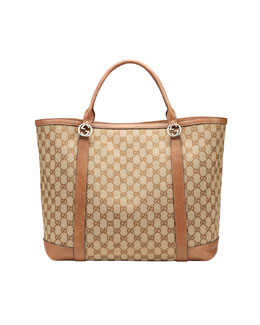 Gucci Miss GG Large Original Canvas Tote Bag, Old Naturale