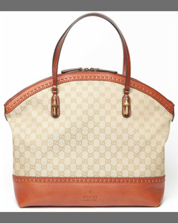 Gucci Laidback Crafty Top Handle Bag, New Rust