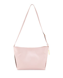 Stella McCartney Beckett Small Faux-Napa Shoulder Bag, Pale Pink
