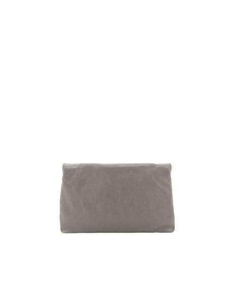 Giant 12 Golden Envelope Clutch Bag, Light Gray