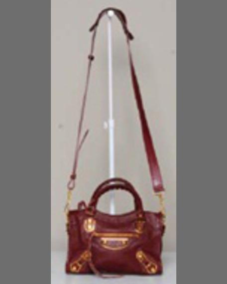 Metallic Edge Classic Mini City Crossbody Bag, Gris Claire