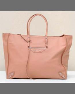 Balenciaga Papier A5 Zip Tote Bag, Tomette