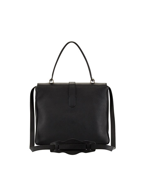 Tube Square Shoulder Bag, Black