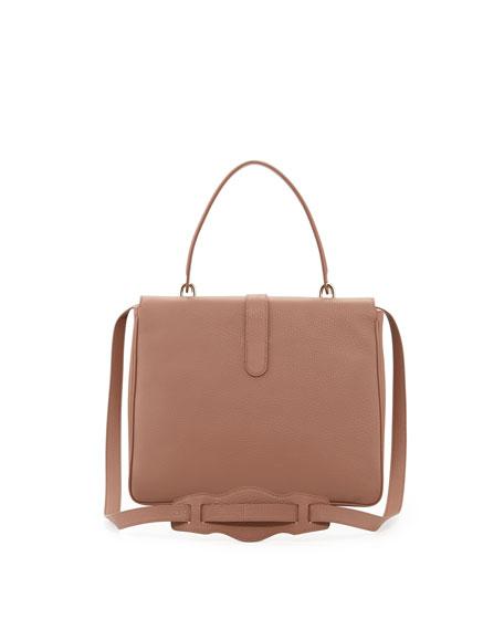 Tube-Clasp Square Shoulder Bag, Tomette