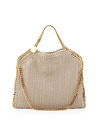 Falabella Fold-Over Shoulder Bag, Sand